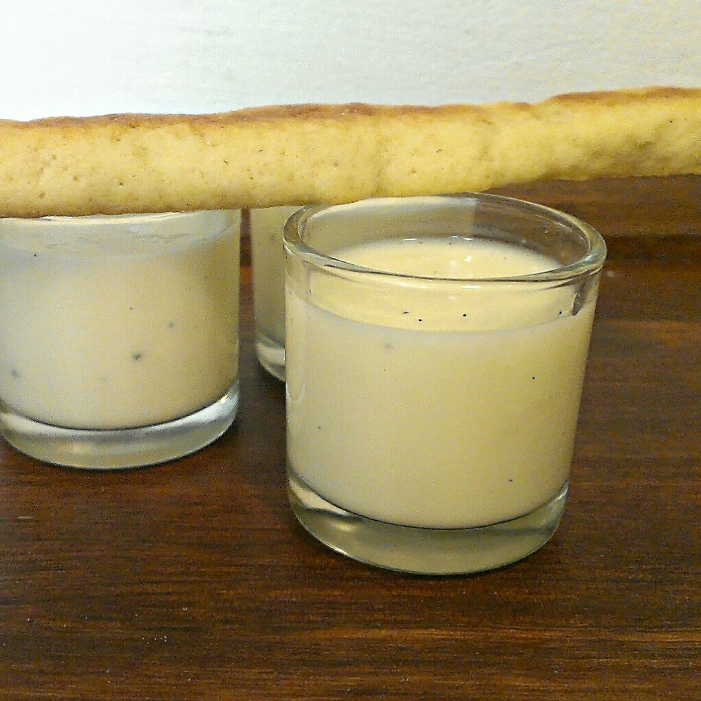 Buttermilk Soup with White Chocolate and Sticks
