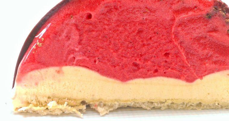 Ice Cream Bombe with Raspberry and Liquorice